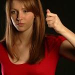 BodyLanguageProjectCom - Baton gestures Or Hand Chop Gesture